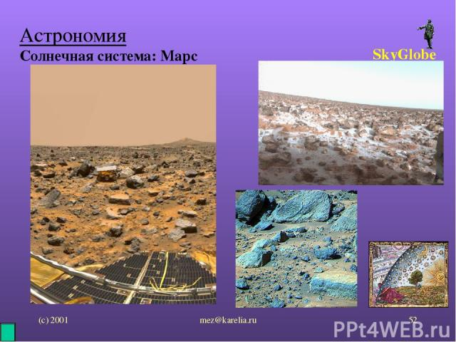 (с) 2001 mez@karelia.ru * Астрономия Солнечная система: Марс SkyGlobe mez@karelia.ru