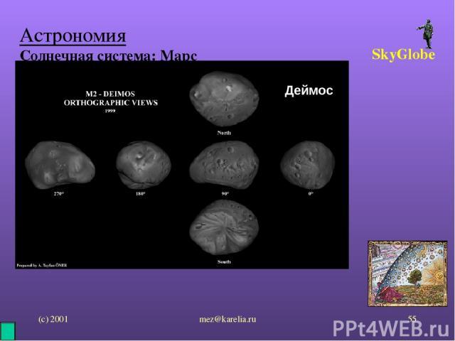 (с) 2001 mez@karelia.ru * Астрономия Солнечная система: Марс SkyGlobe Деймос mez@karelia.ru