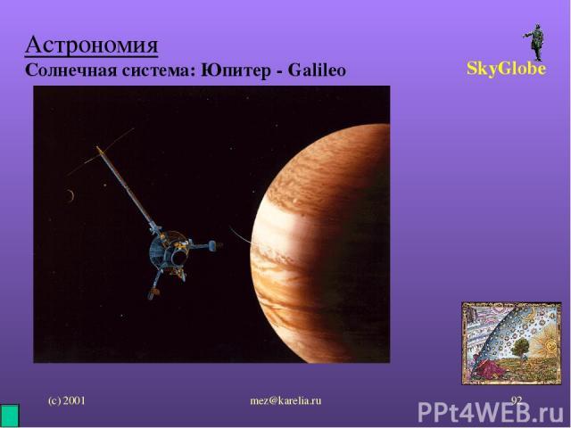 (с) 2001 mez@karelia.ru * Астрономия Солнечная система: Юпитер - Galileo SkyGlobe mez@karelia.ru