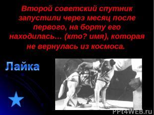 Второй советский спутник запустили через месяц после первого, на борту его наход