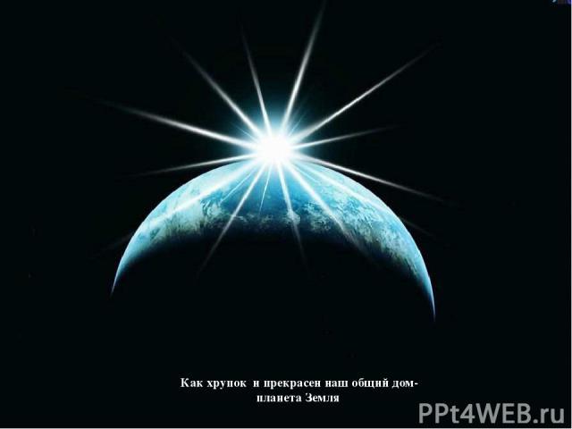 Как хрупок и прекрасен наш общий дом- планета Земля