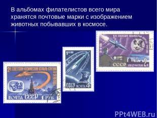 В альбомах филателистов всего мира хранятся почтовые марки с изображением животн