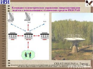 Командно-телеметрическое управление микроспутниками ведётся с использованием тех