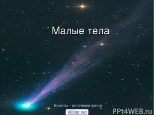 Малые тела Кометы – источники жизни 900igr.net