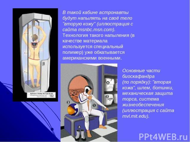 В такой кабине астронавты будут напылять на своё тело
