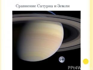 Сравнение Сатурна и Земли