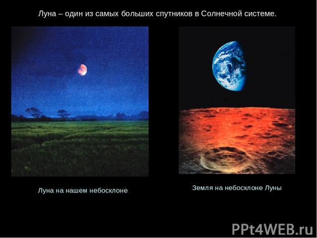 Луна – один из самых больших спутников в Солнечной системе. Луна на нашем небосклоне Земля на небосклоне Луны