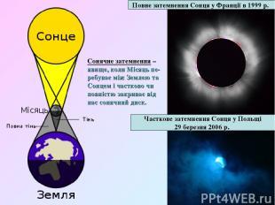 Повне затемненняСонцяуФранціїв1999 р. Часткове затемненняСонцяуПольщі 29
