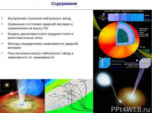 * Содержание Внутреннее строение нейтронных звезд Уравнение состояния ядерной ма
