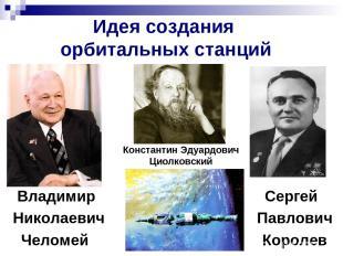Идея создания орбитальных станций Владимир Сергей Николаевич Павлович Челомей Ко