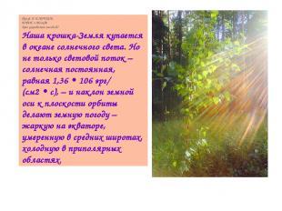 Проф. Б.И.ЛУЧКОВ, МИФИ, г.Москва Кто управляет погодой? Наша крошка-Земля купает