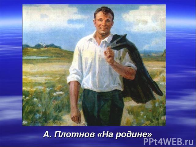 А. Плотнов «На родине»