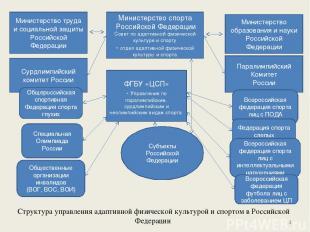 Структура управления адаптивной физической культурой и спортом в Российской Феде