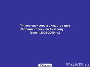 Личное спонсорство спортсменов Сборной России по биатлону (сезон 2008-2009 гг.)