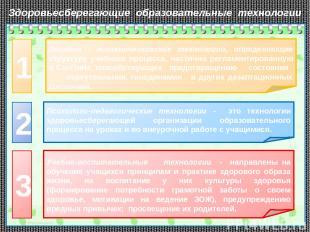 Эколого - гигиеническиеские технологии, определяющие структуру учебного процесса