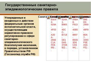 Утвержденные и введенные в действие федеральным органом исполнительной власти, о