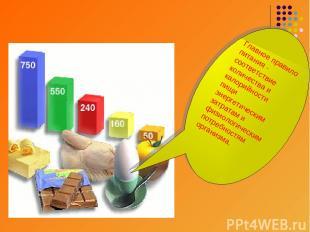 Главное правило питания - соответствие количества и калорийности пищи энергетиче