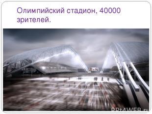 Олимпийский стадион, 40000 зрителей.