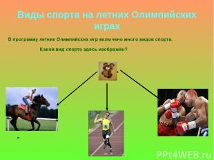 Виды спорта на летних Олимпийских играх В программу летних Олимпийских игр включ