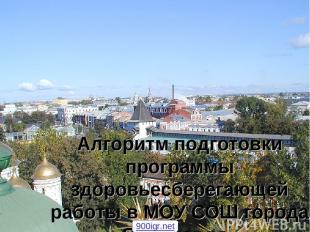 Алгоритм подготовки программы здоровьесберегающей работы в МОУ СОШ города Яросла