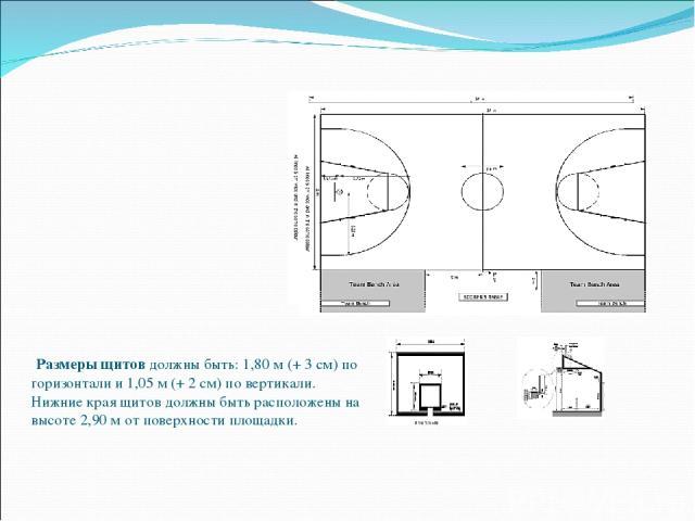 Размеры игровой площадки должны быть 28 метров в длину и 15 метров в ширину, измеренные от внутреннего края ограничивающих линий. Разрешены игровые площадки с минимальными размерами 26х14 метров. Высота потолка или расстояние до самого низкого препя…