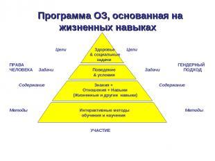 Программа ОЗ, основанная на жизненных навыках Цели Здоровье Цели & социальные за