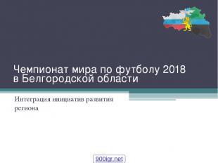 Чемпионат мира по футболу 2018 в Белгородской области Интеграция инициатив разви