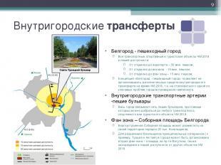 Внутригородские трансферты Белгород - пешеходный город Все транспортные, спортив
