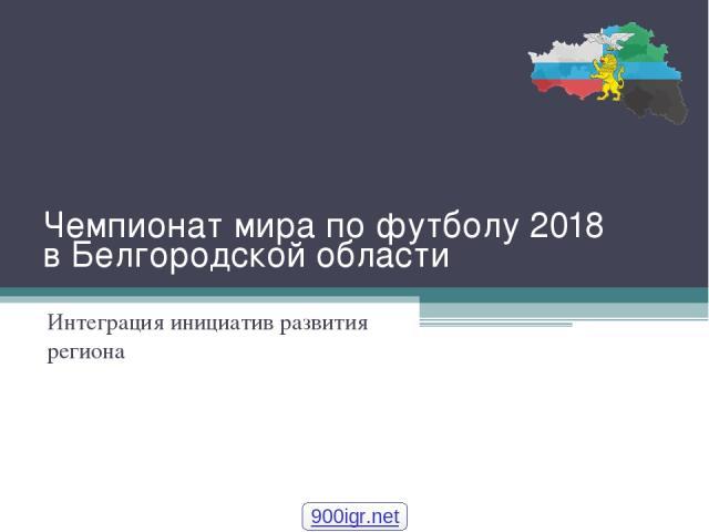 Чемпионат мира по футболу 2018 в Белгородской области Интеграция инициатив развития региона 900igr.net