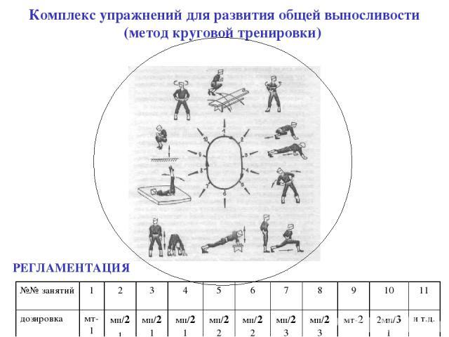 Комплекс общеразвивающих упражнений на развитие выносливости