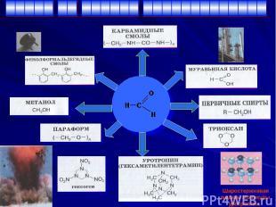 Шаростержневая модель молекулы уротропина