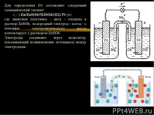 При увеличении величины Е0 увеличивается сила окислителя и соответственно уменьшается сила восстановителя. Направление протекания реакций Направление протекания реакции зависит от знака электродвижущей силы (ЭДС). ЭДС= Еок-Ефвос При ЭДС>0 протекает …
