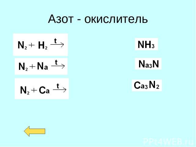 Азот - окислитель