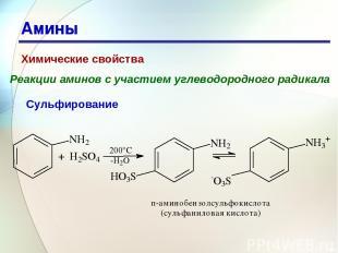 * Амины Химические свойства Реакции аминов с участием углеводородного радикала С
