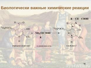 * Биологически важные химические реакции