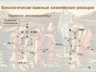 * Биологически важные химические реакции Перенос аминогруппы