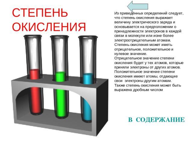 СТЕПЕНЬ ОКИСЛЕНИЯ Из приведённых определений следует, что степень окисления выражает величину электрического заряда и основывается на предположении о принадлежности электронов в каждой связи в молекуле или ионе более электроотрицательным атомам. Сте…