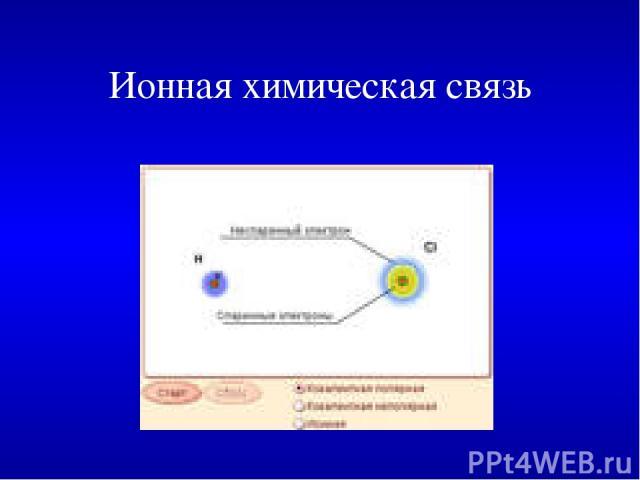 Ионная химическая связь