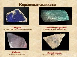Каркасные силикаты Амазонит (микроклин). К[АlSi3O8]. Южное Прибайкалье Лунный ка