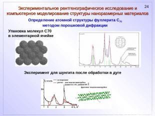 Экспериментальное рентгенографическое исследование и компьютерное моделирование