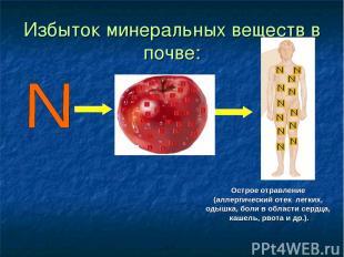 Избыток минеральных веществ в почве: Острое отравление (аллергический отек легки