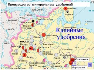 Соликамск Березники Производство минеральных удобрений