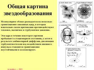Астрофест — 2005 Молекулярное облако распадается на несколько гравитационно связ