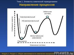 Направление процессов Модуль 1. Раздел 1. Общие закономерности химических процес