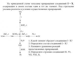 На приведенной схеме показаны превращения соединений I Х, содержащих в своем сос