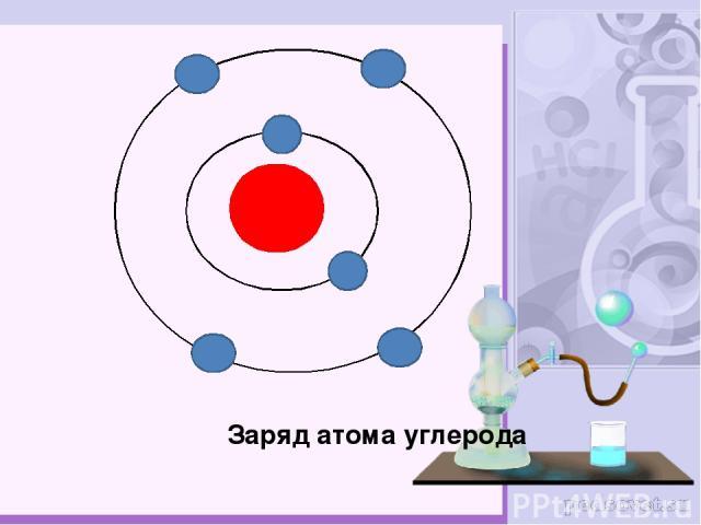 Заряд атома углерода
