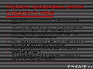 Перечень проверяемых умений в задание по темам Вычисление относительной плотност