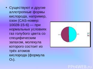 Существуют и другие аллотропные формы кислорода, например, озон (CAS-номер: 1002