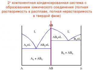 2х компонентная конденсированная система с образованием химического соединения (