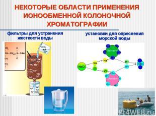 НЕКОТОРЫЕ ОБЛАСТИ ПРИМЕНЕНИЯ ИОНООБМЕННОЙ КОЛОНОЧНОЙ ХРОМАТОГРАФИИ фильтры для у